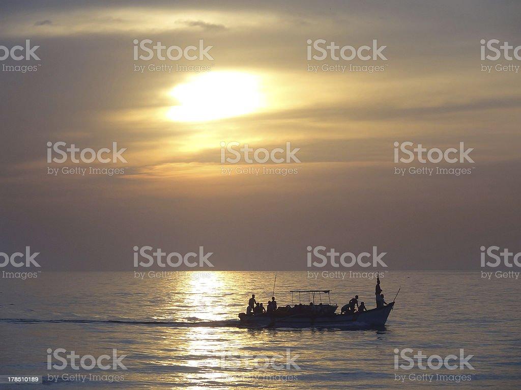 Sundown at Colva stock photo