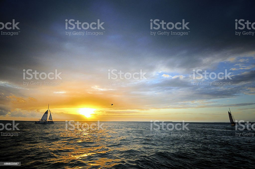 Sundown at Key West royalty-free stock photo