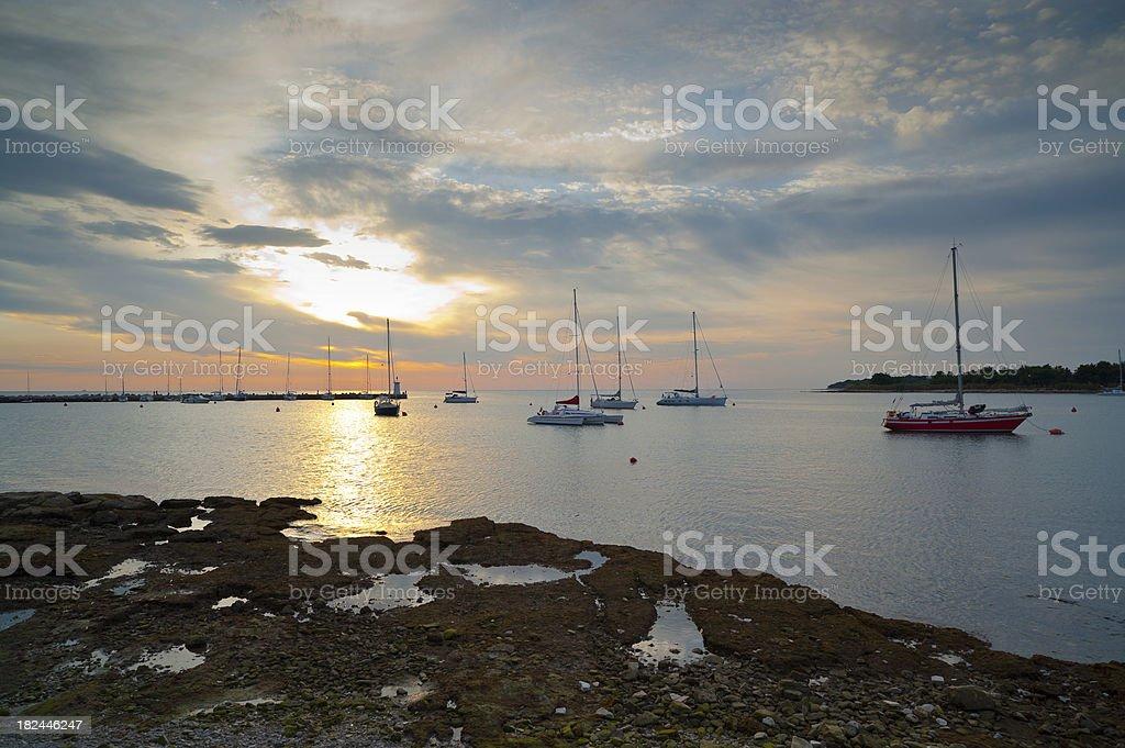 Sundown at the Harbour stock photo