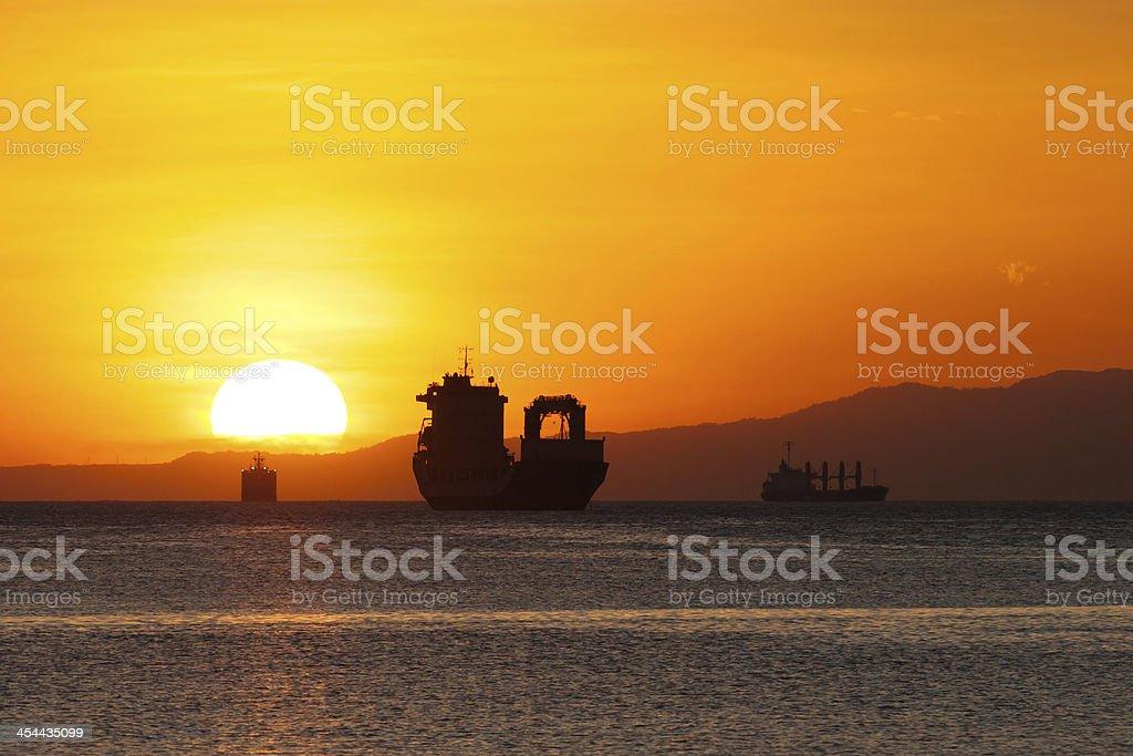 Sundown at the Manila Bay royalty-free stock photo