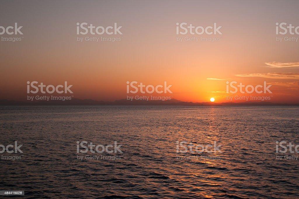 Pôr do sol do Egito-Sonnenuntergang Ägypten foto royalty-free