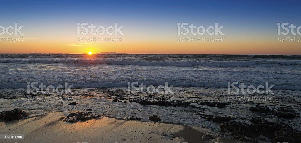 sundown on the rocks royalty-free stock photo