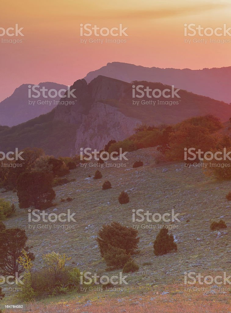 Sundown royalty-free stock photo