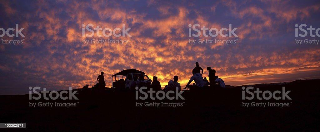 Sundowner stock photo