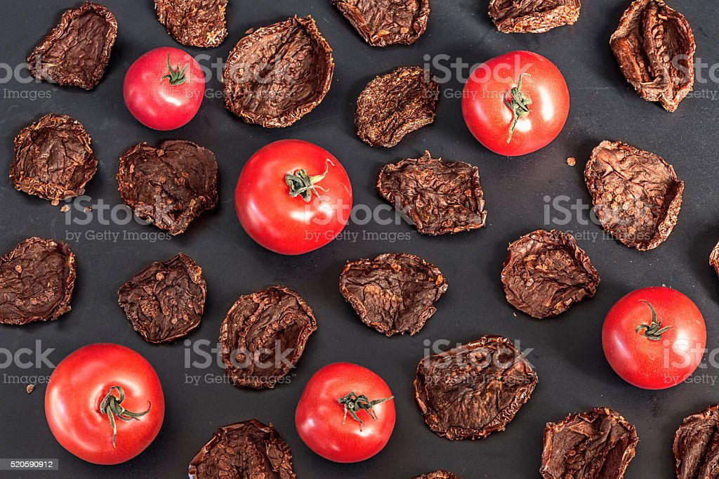 Sun-Dried and Natural Tomatoes stock photo