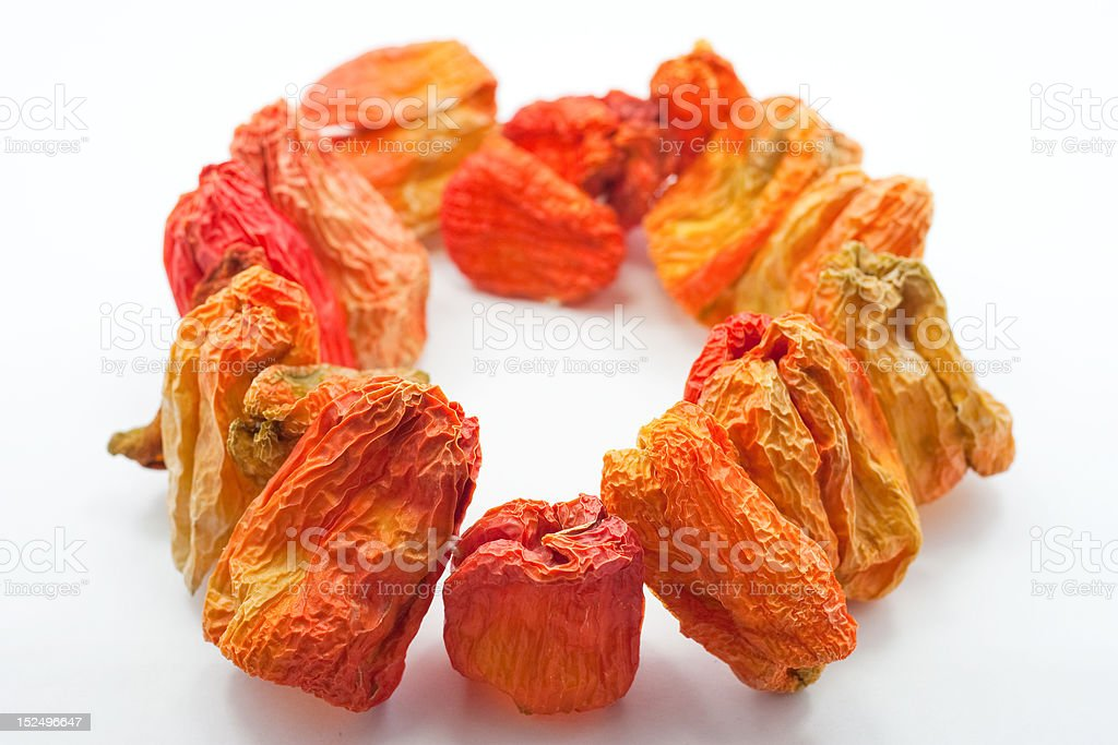 Sun-Dried Bell Pepper stock photo