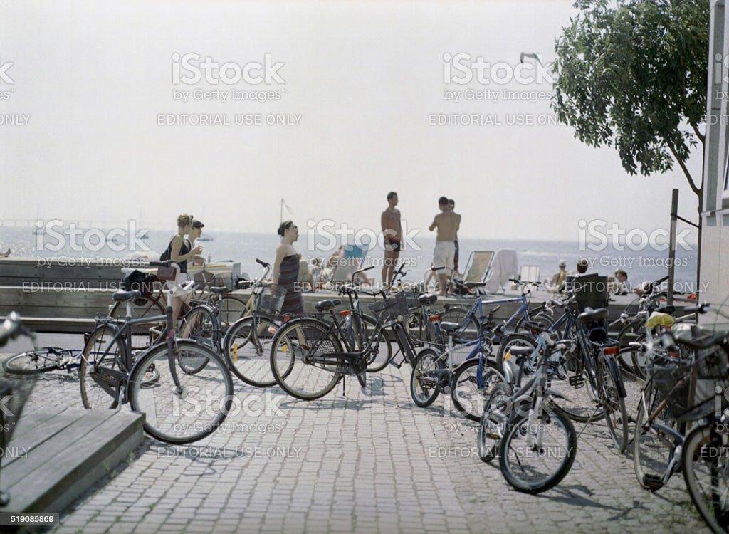 Sundspromenaden stock photo