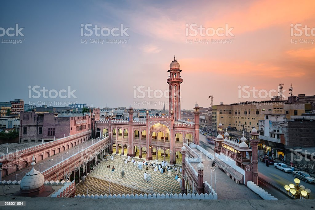 Sunehri Masjid Peshawar Pakistan stock photo