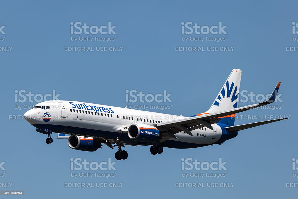 SunExpress airline Boeing 737-800 stock photo