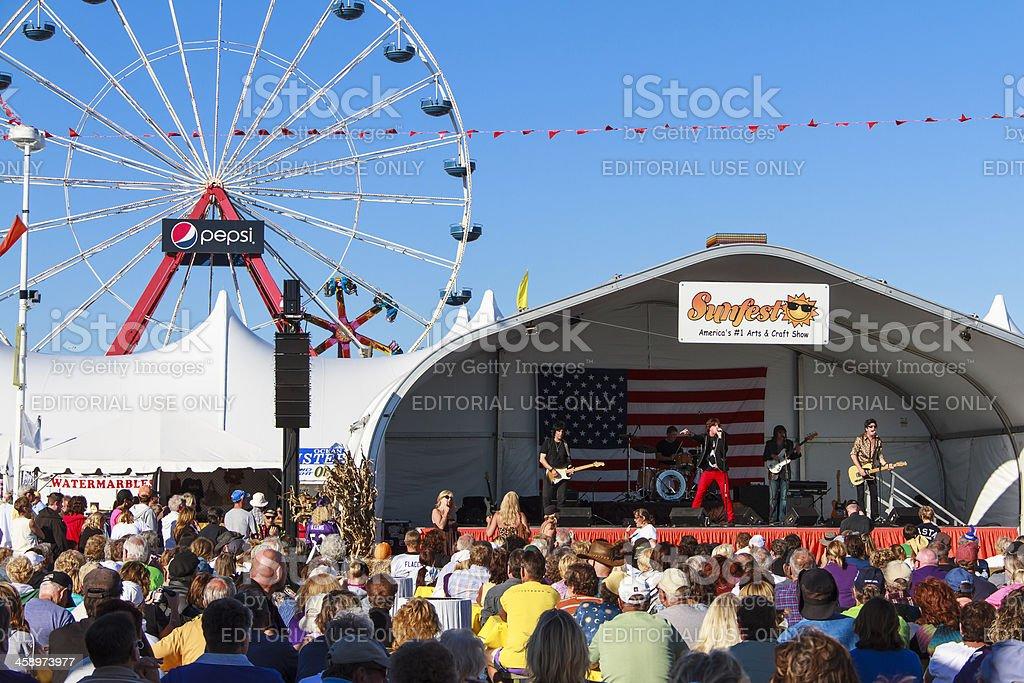 Sunfest Celebration In Ocean City Maryland stock photo