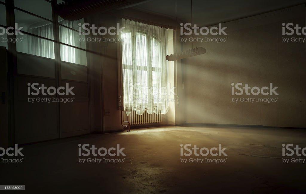 Sun-flooded window stock photo