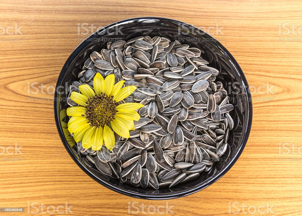 sunflower and seeds stock photo