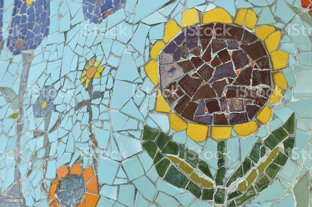 Sunflower in Tile royalty-free stock photo