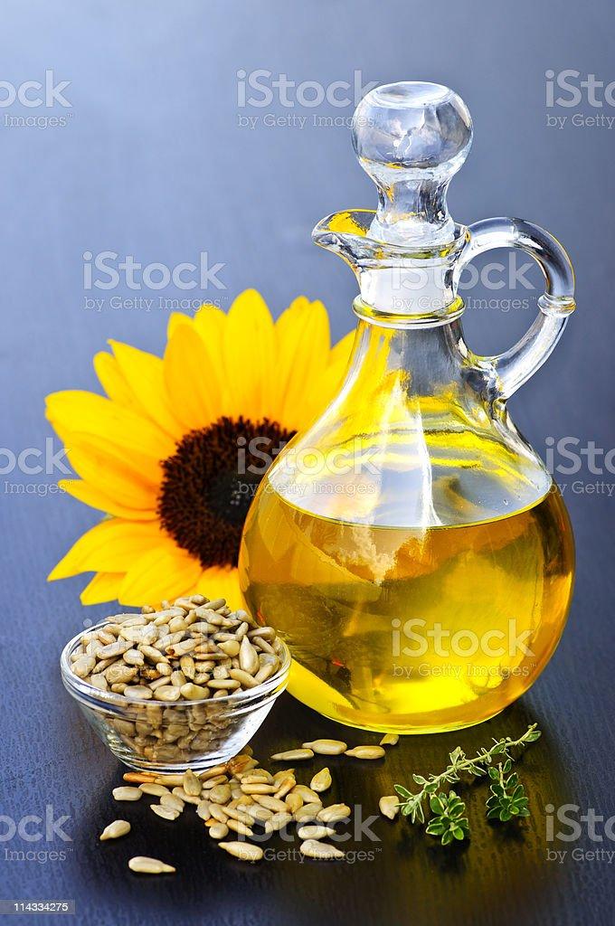 Sunflower oil bottle royalty-free stock photo
