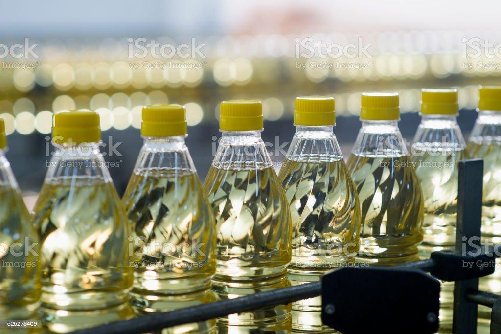 Sunflower Oil Factory stock photo