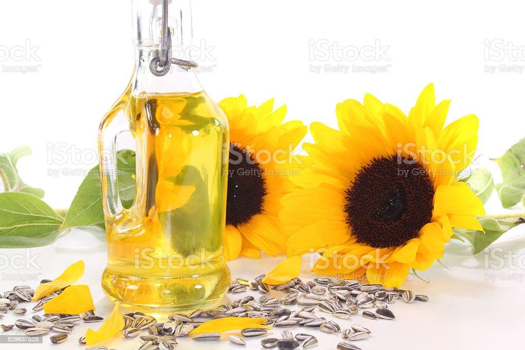 Sunflower oil stock photo