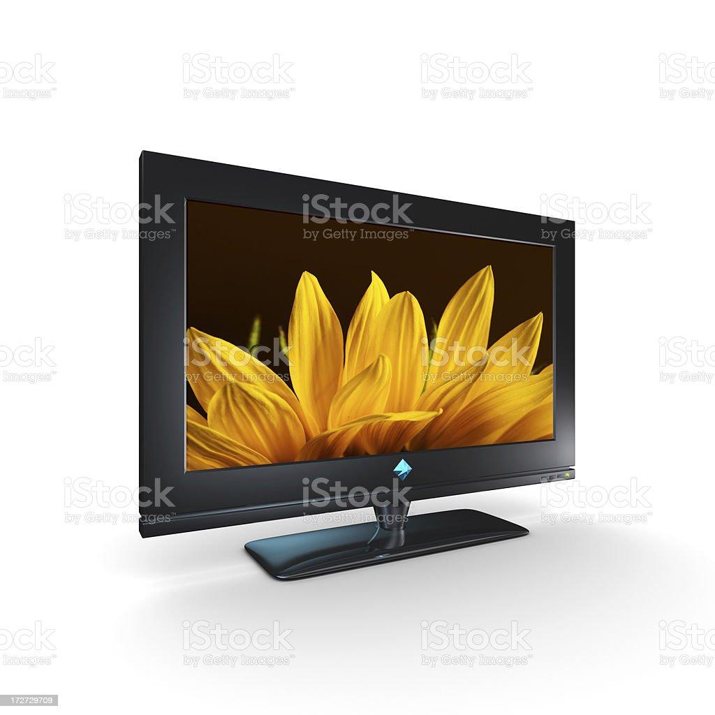 Sunflower on TV Screen (XXXL) royalty-free stock photo