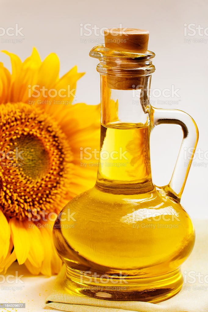 sunflower seed oil stock photo