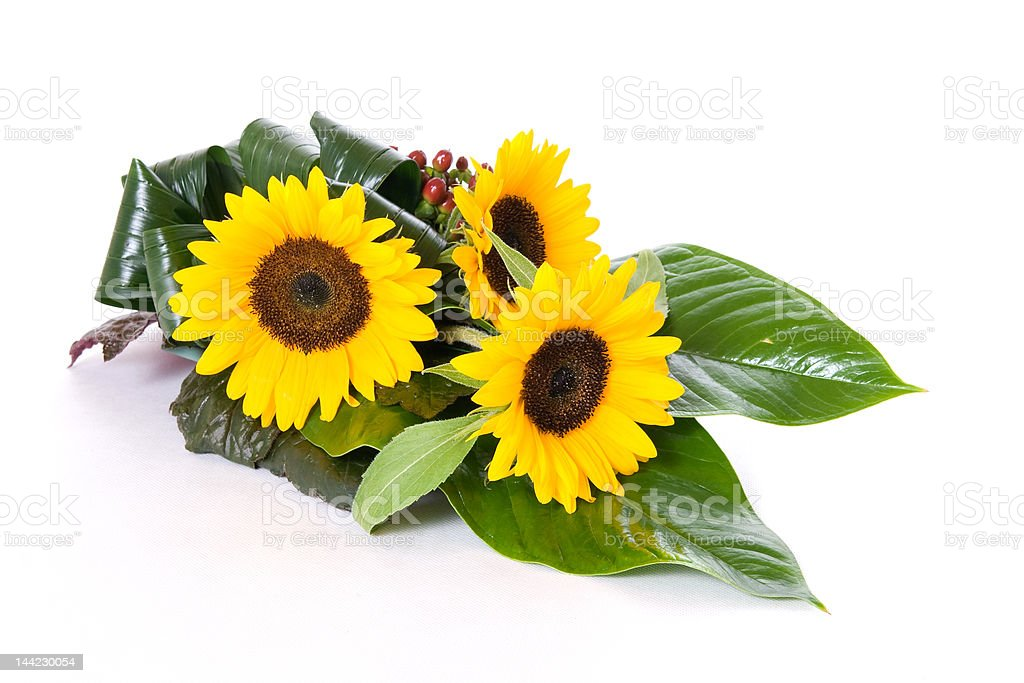 Sunflowers table decoration royalty-free stock photo