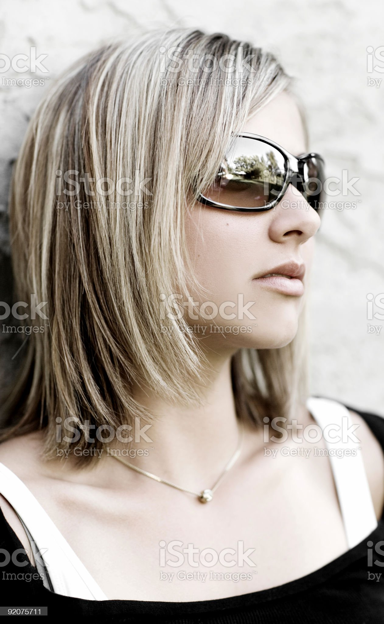 Sunglass Portrait royalty-free stock photo