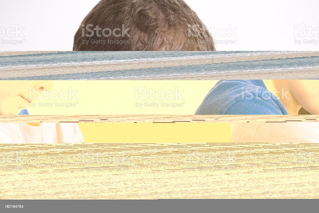 Sunglasses and beach volleyball royalty-free stock photo