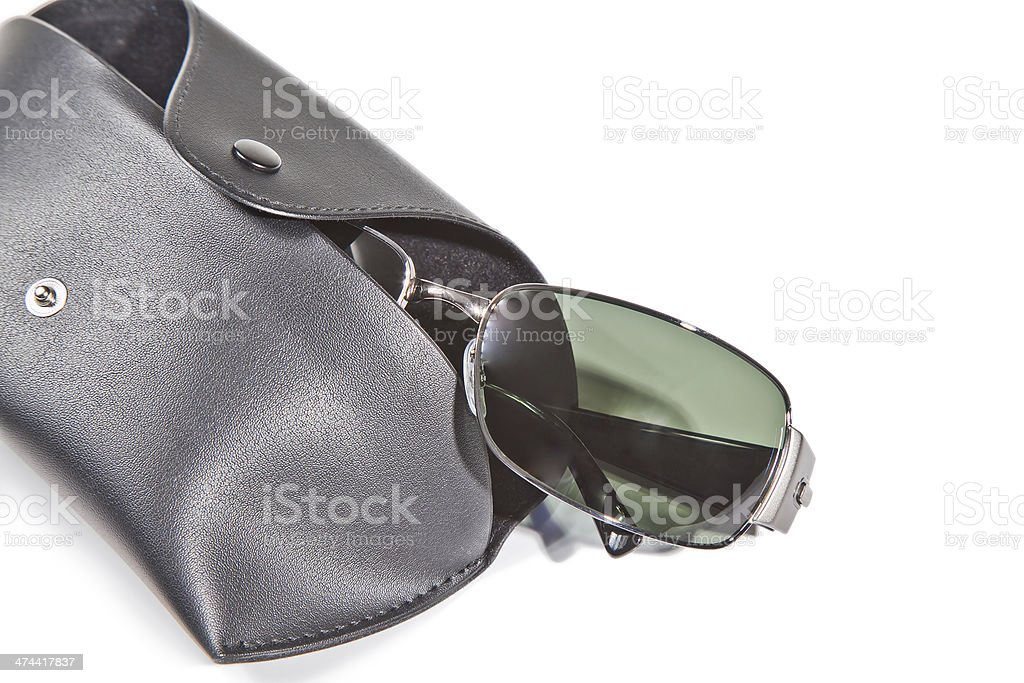 Sunglasses and Case royalty-free stock photo