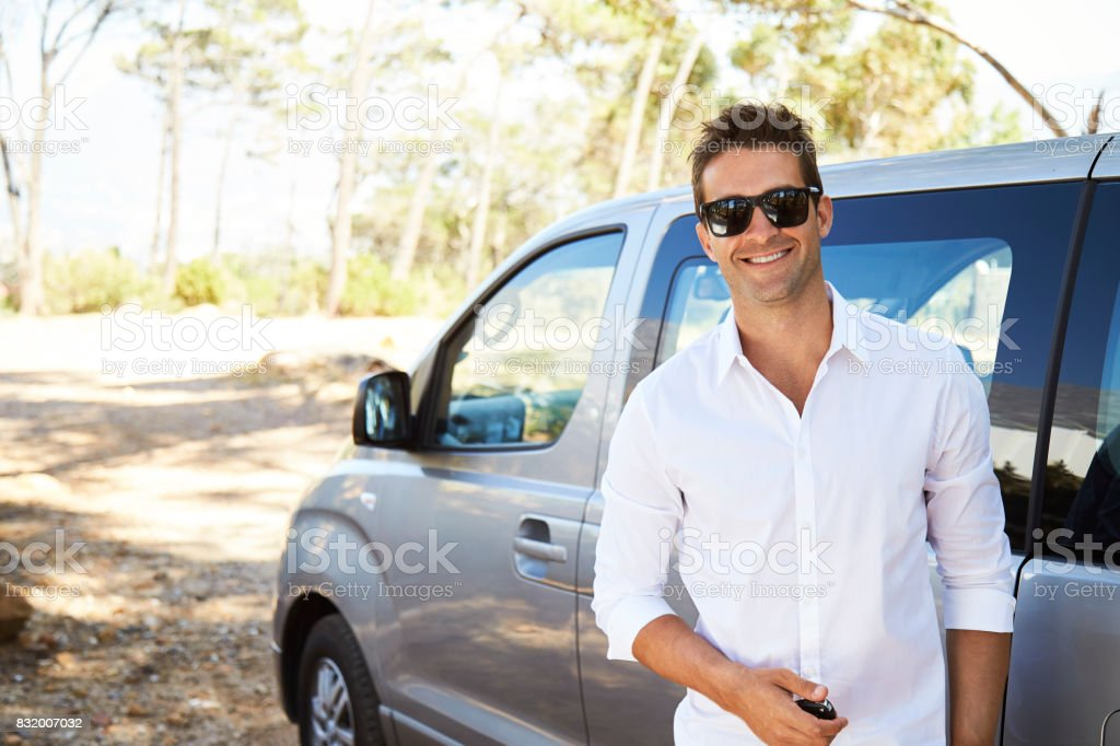 Sunglasses and shirt guy stock photo