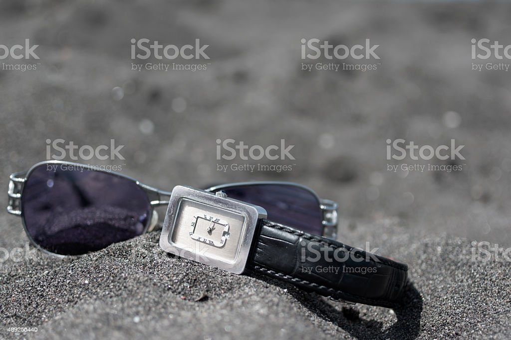 Sunglasses And Wrist Watch stock photo