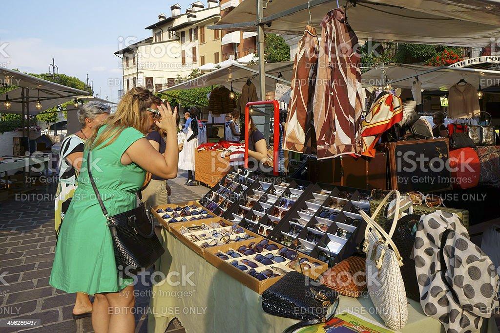 Sunglasses at Desenzano street vintage market royalty-free stock photo