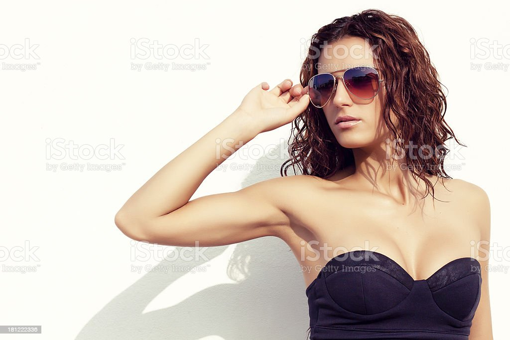 Sunglasses aviator stock photo