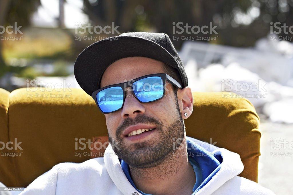 Sunglasses define who I am royalty-free stock photo