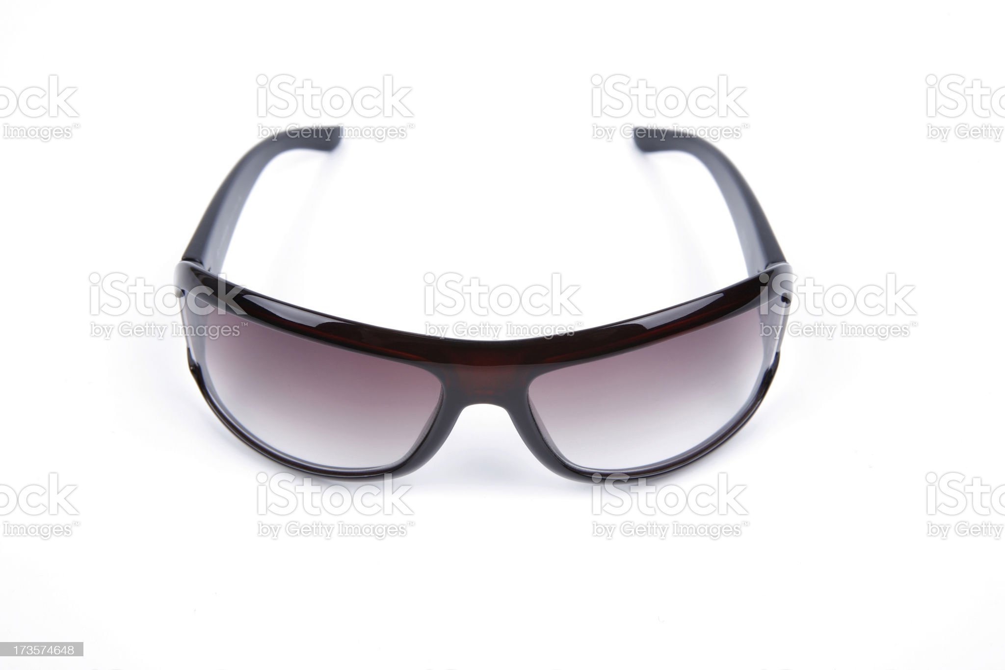 Sunglasses front view royalty-free stock photo