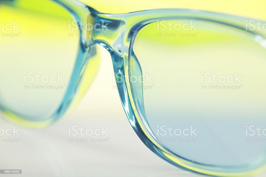 sunglasses in colorful colors stock photo