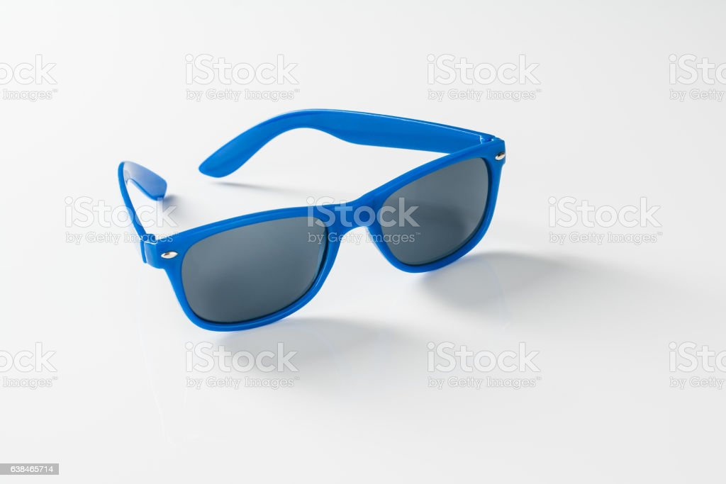 Sunglasses isolated on white background with copy space stock photo