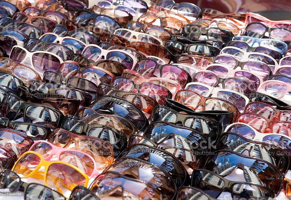 Sunglasses, lots of royalty-free stock photo