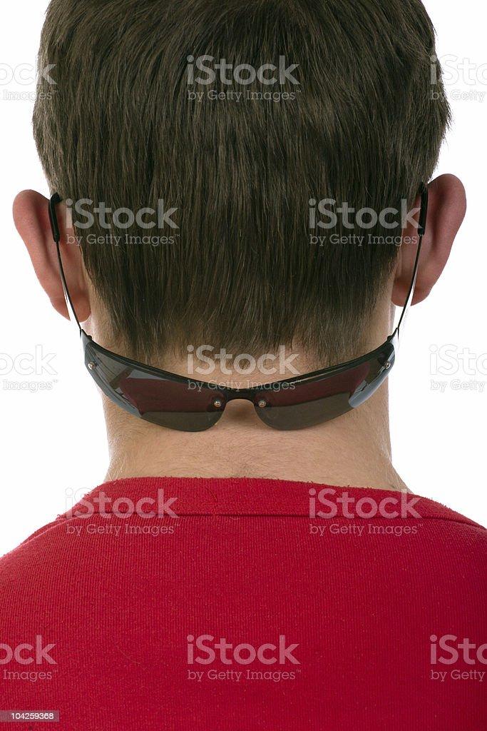 Sunglasses on a nape stock photo