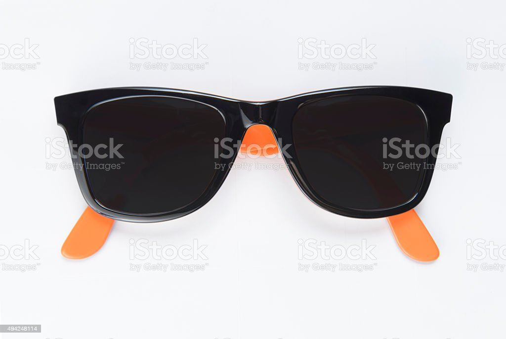 Sunglasses on a white background stock photo