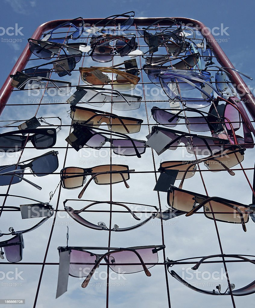 Sunglasses on Display royalty-free stock photo