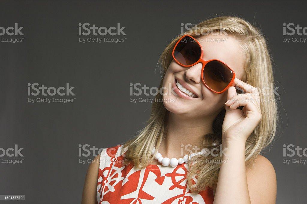 Sunglasses on Fashion Model stock photo