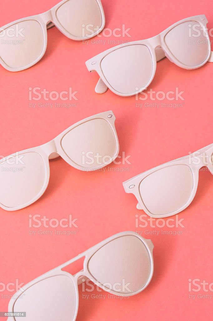 sunglasses painted in white color stock photo