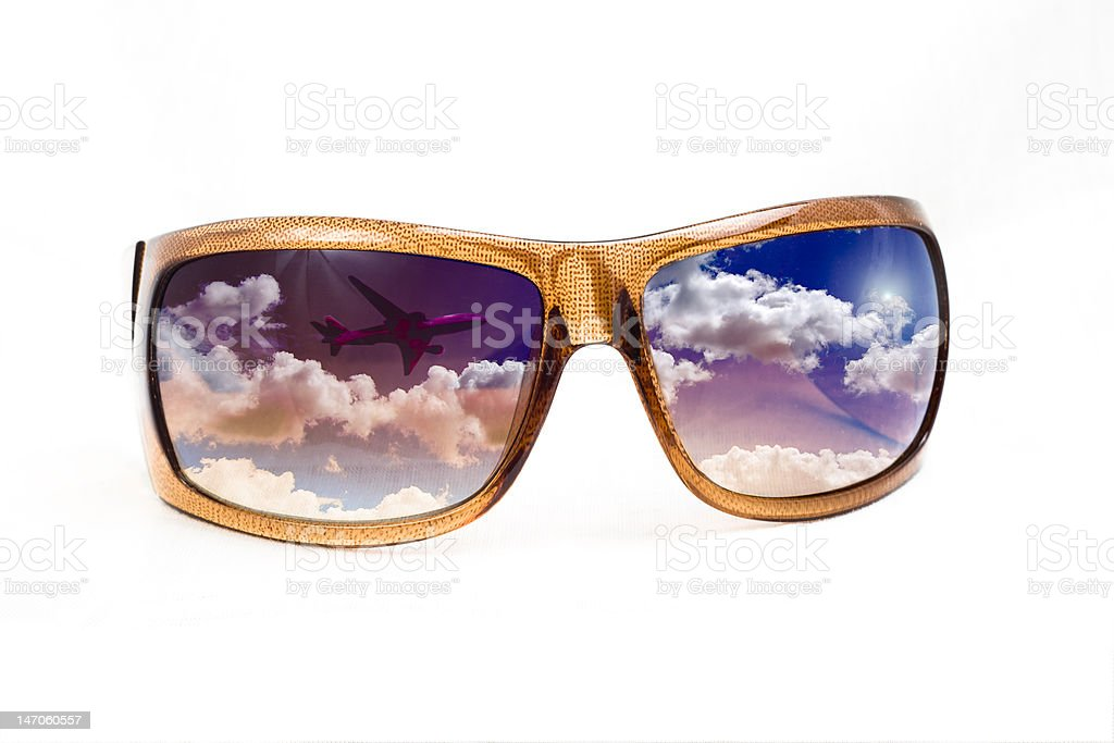 Sunglasses with concept reflection stock photo