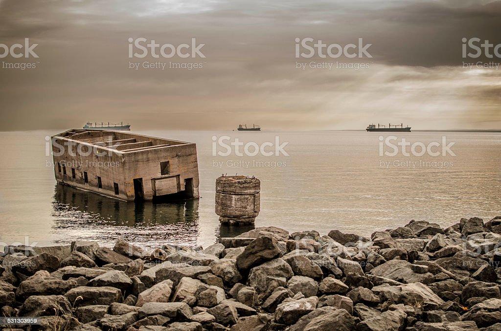 Sunk stock photo