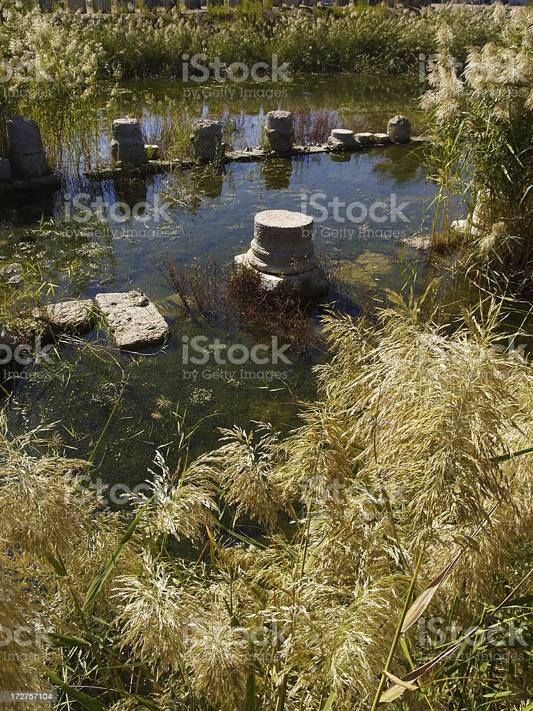 sunken civilisation stock photo