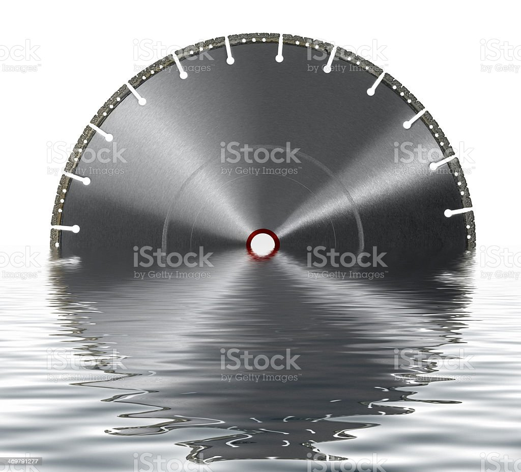 sunken cutting wheel stock photo