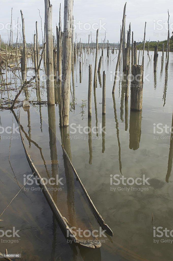 Sunken Dugout stock photo
