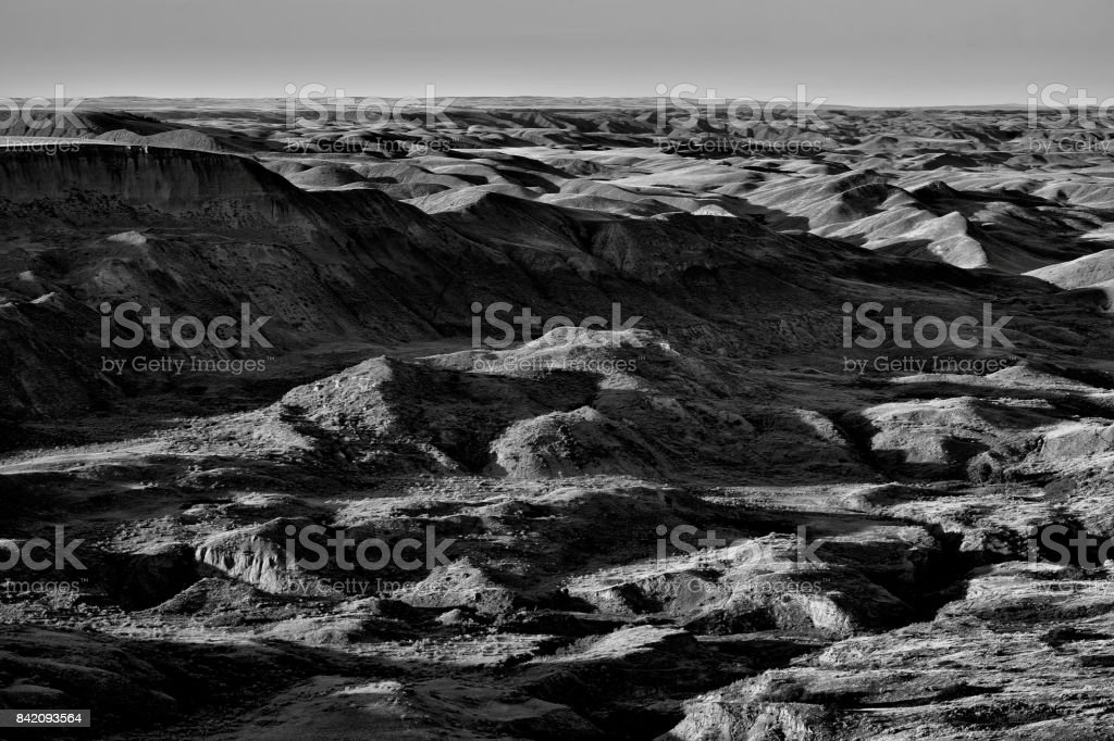 Sunken Hill Saskatchewan stock photo