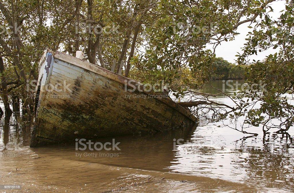 Sunken Ship royalty-free stock photo