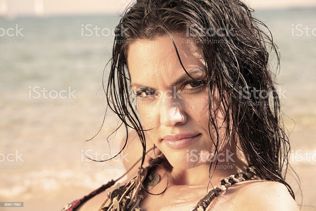 Sunkissed beauty. royalty-free stock photo