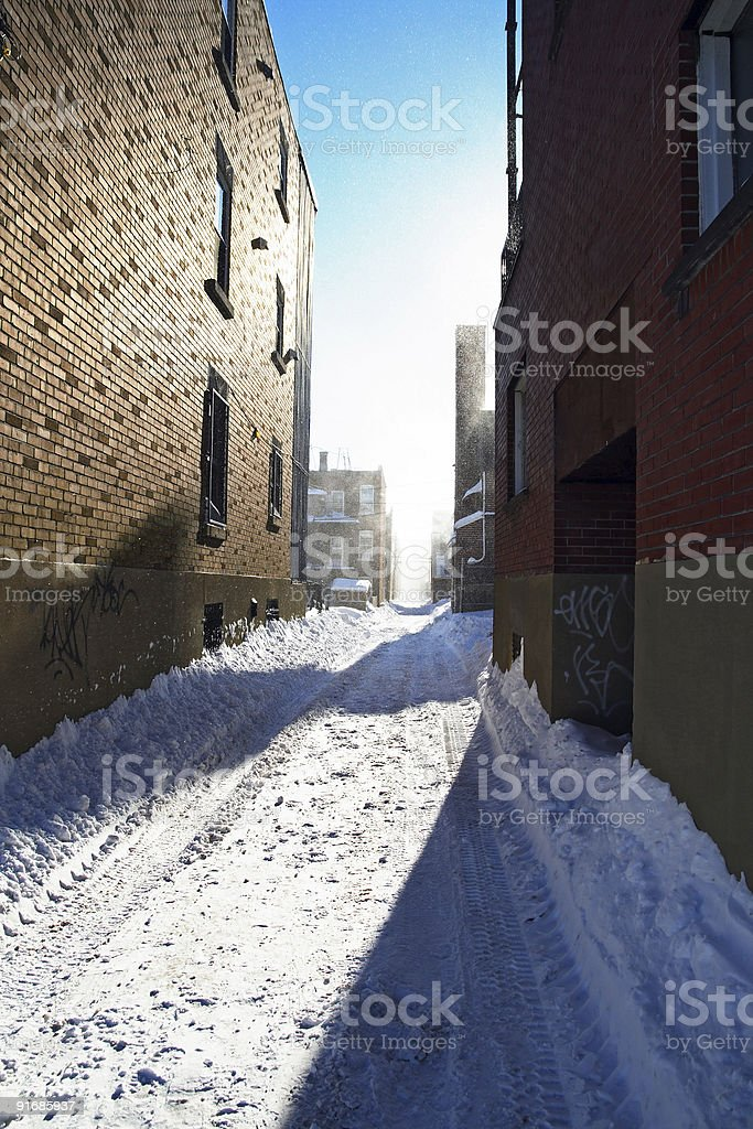 Sunlight after the snowstorm royalty-free stock photo