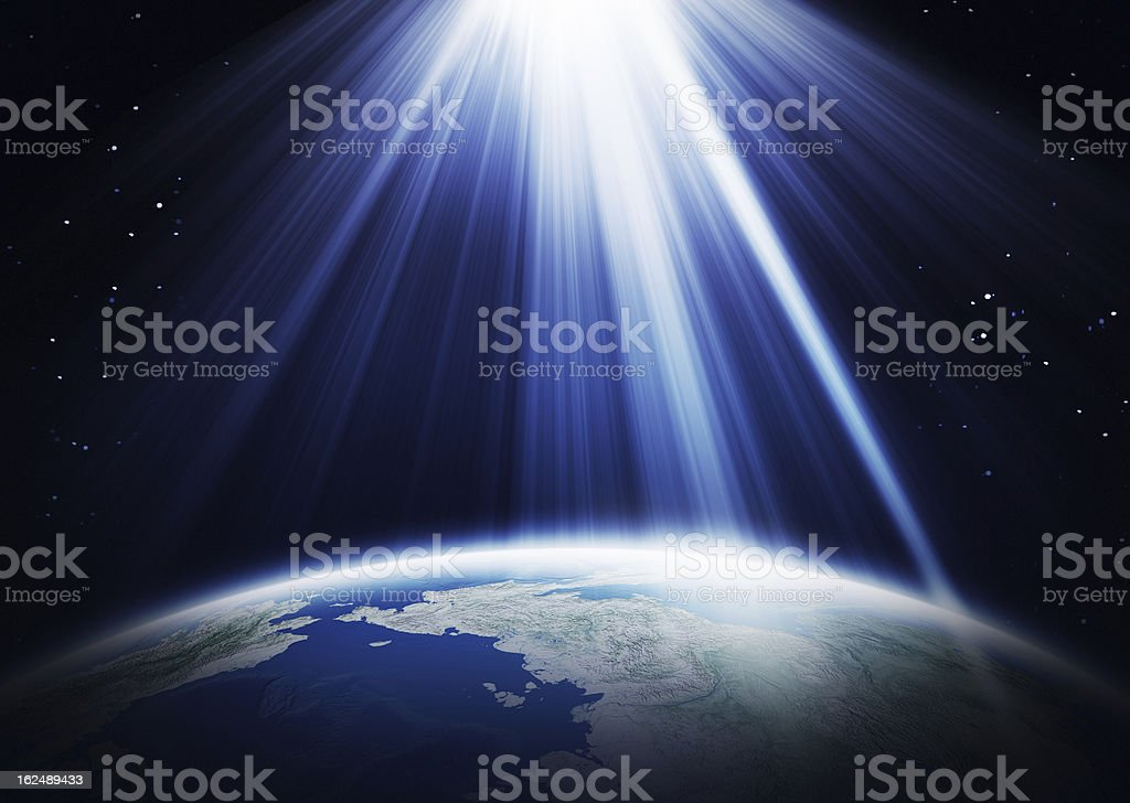 Sunlight  and Earth royalty-free stock photo